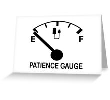 Patience Gauge Empty Greeting Card