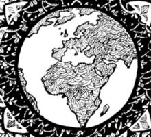 Earth Mandala (black) Sticker