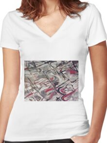 ANCIENT RIGHTS(C1998) Women's Fitted V-Neck T-Shirt