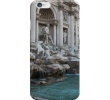 Rome's Fabulous Fountains - Trevi Fountain, No Tourists iPhone Case/Skin