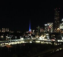 City at night by WonderingWolf