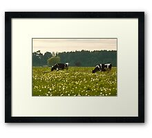 Happy Cows! Framed Print