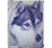 Beautiful husky dog portrait iPad Case/Skin