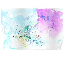 Stream of Consciousness watercolor Poster