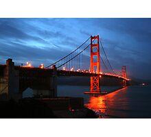 Red Night, Golden Gate Bridge, San Francisco Photographic Print