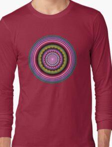 Colourful Mandala with tribal patterns Long Sleeve T-Shirt