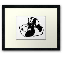 Panda Baby Love Framed Print