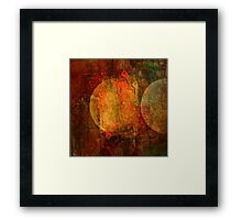 Abstract moons Framed Print