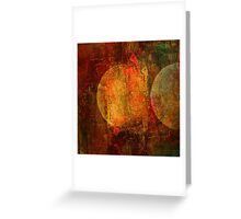 Abstract moons Greeting Card
