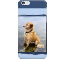 Wet Dog ~ Cooling Off At the Lake iPhone Case/Skin