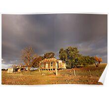 Storm Clouds Gather, Old Farmhouse, Castlemaine, Australia Poster