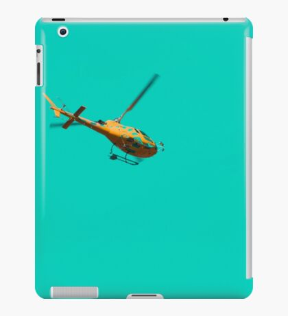 Yellow helicopter iPad Case/Skin
