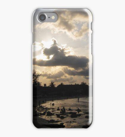 silver beach sunset iPhone Case/Skin