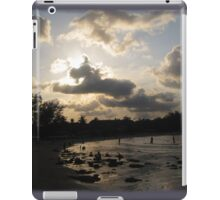 silver beach sunset iPad Case/Skin