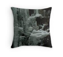 Frosen Waterfall Throw Pillow
