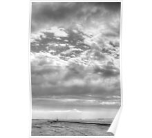 Cloud noon on the beach Poster