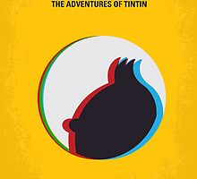 No096 My TINTIN-3D minimal movie poster by JiLong