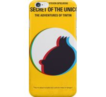No096 My TINTIN-3D minimal movie poster iPhone Case/Skin