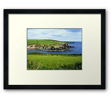 Green and blue, Ireland Framed Print