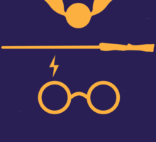 No101 My Harry Potter minimal movie poster Sticker