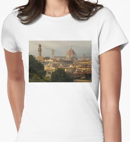 Hot Summer Afternoon in Florence, Italy Womens Fitted T-Shirt