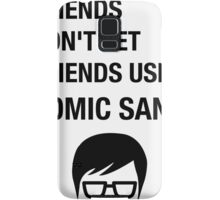Sarcastic Hipster Funny Helvetica Nerd Designer Shirt Samsung Galaxy Case/Skin