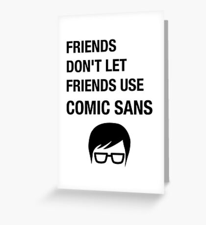 Sarcastic Hipster Funny Helvetica Nerd Designer Shirt Greeting Card
