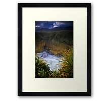 Pancake Rock Framed Print