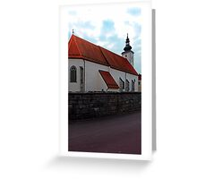 The village church of Waldburg 3 | architectural photography Greeting Card
