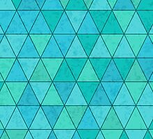 Triangles pattern with texture overlay by msOctopus