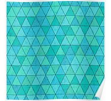 Triangles pattern with texture overlay Poster