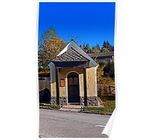 Chapel along the road 2   architectural photography Poster