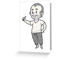 standalone Trevor mascot Greeting Card