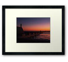 NEWCASTLE NSW OCEAN BATHS Framed Print