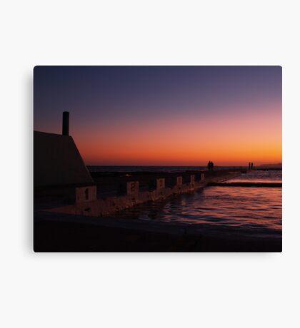 NEWCASTLE NSW OCEAN BATHS Canvas Print