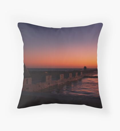 NEWCASTLE NSW OCEAN BATHS Throw Pillow