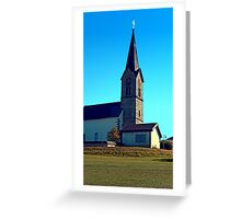 The village church of Schwarzenberg 4 | architectural photography Greeting Card
