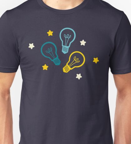 Lightbulb Idea Pattern Unisex T-Shirt