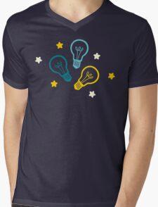 Lightbulb Idea Pattern Mens V-Neck T-Shirt