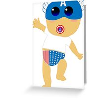 Baby Captain America Greeting Card