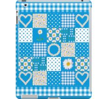 Daisy Chains Faux Patchwork and Check Gingham iPad Case/Skin