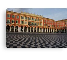 Nice, France, French Riviera - the Cheerful Colors of Place Massena  Canvas Print