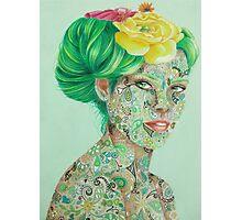 Floral Geisha Photographic Print