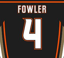 Anaheim Ducks Cam Fowler Jersey Back Phone Case by Russ Jericho