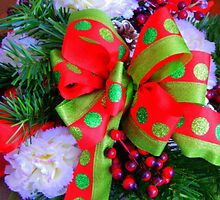 Bows and berries by Karen Cook