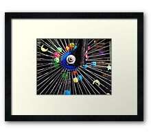 Bike wheel Framed Print