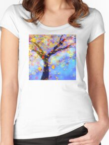 Falling Leaves  Women's Fitted Scoop T-Shirt