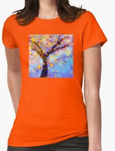Falling Leaves  Womens Fitted T-Shirt