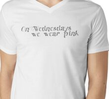 On Wednesdays we wear pink Mens V-Neck T-Shirt