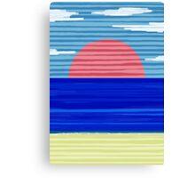 Paper Beach Canvas Print